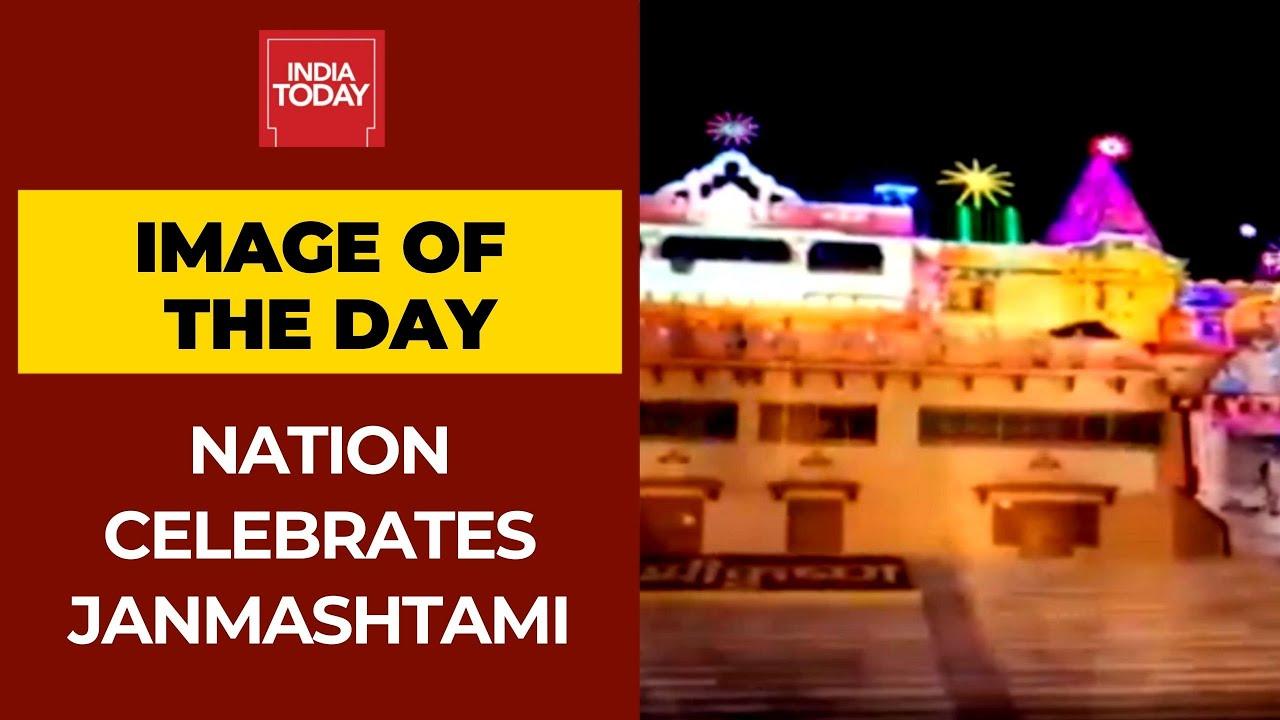 Krishna Temple in Mathura Illuminated On The Occasion Of Janmashtami | Image Of The Day