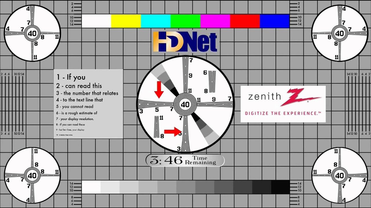 Zenith Hd 1080p Lcd Monitor Professional Test Youtube