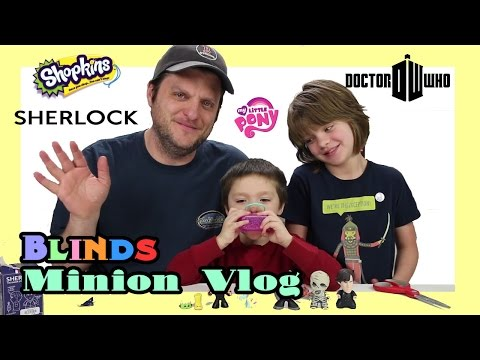 Opening Blinds (Minion Vlog) Shopkins, MLP, Doctor Who, Sherlock- Day 908 | ActOutGames