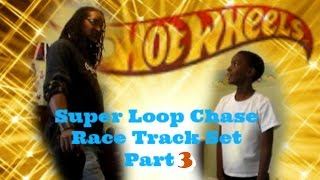 Stream hot wheels race super loop chase race track set assembly part 3