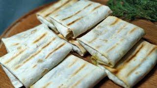 Супер закуска для пикника: лаваш с сыром