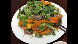 Gỏi bò nướng vỉ, món nhậu tuyệt vời // Cuộc Sống Canada- Vợ Việt Chồng Tây