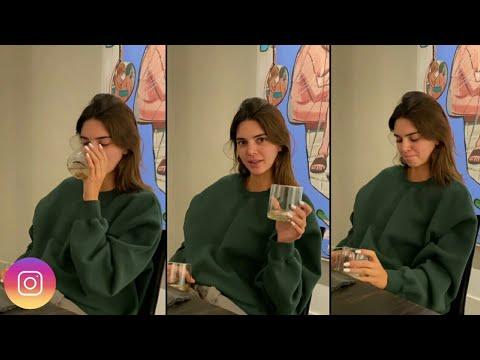 Kendall-Jenner-tasting-her-own-818-tequila-February-16-2021