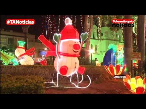 Hoy se encienden los alumbrados navideños en Bello