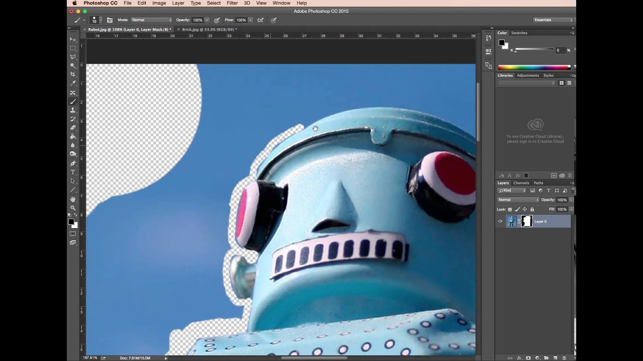 Photoshop layer mask - Photoshop clear cutting guide [4/4]