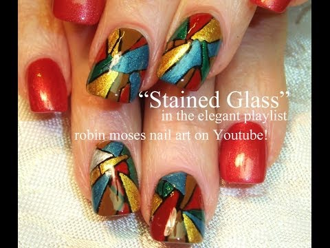 Easy DIY Stained glass Nail Art Design Tutorial | Fall Nails