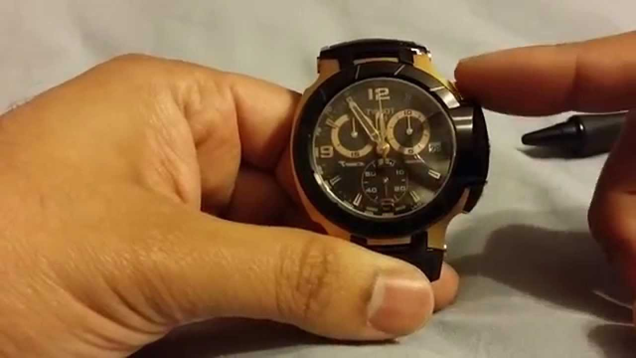 7c5ae2b99 Tissot T-Race Rose Gold Black Watch Review T048.417.27.057.06 - YouTube