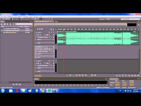 Cách lưu và export ra đuôi  mp3 [Adobe Audition C6]