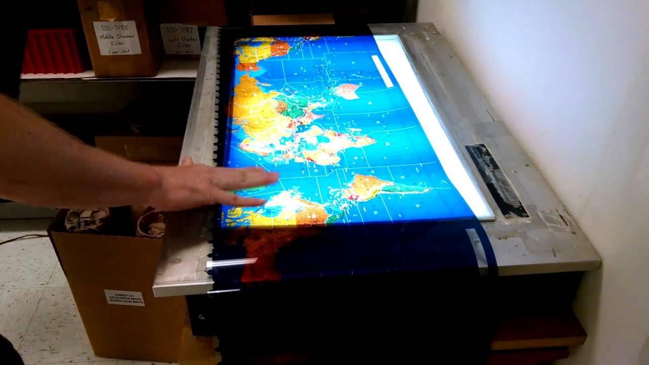 Geochron Ham Maps unrolled