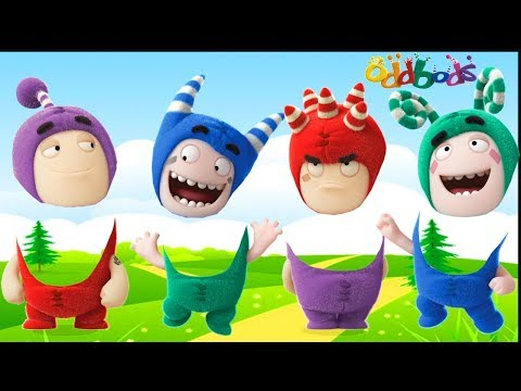 Oddbods Wrong Heads Finger Family Song 姣涙瘺闋� Surprise Toys Cartoon