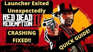 Red Dead Redemption 2 Launcher Exited Unexpectedly FIXED| How to fix crashing and freezing|