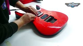 How to Reskin Your Guitar in 30 minutes! axedecals.com / Custom Guitar Body Wrap