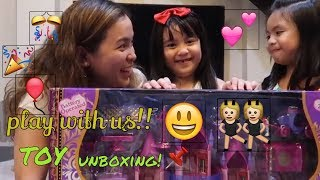 Toy unboxing! Castle toy! playtime with my friend Janna & tita Aizza
