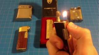 Vintage Pipe Lighters: Lilly, Colibiri, Beattie, The Golden Wheel, Sonex