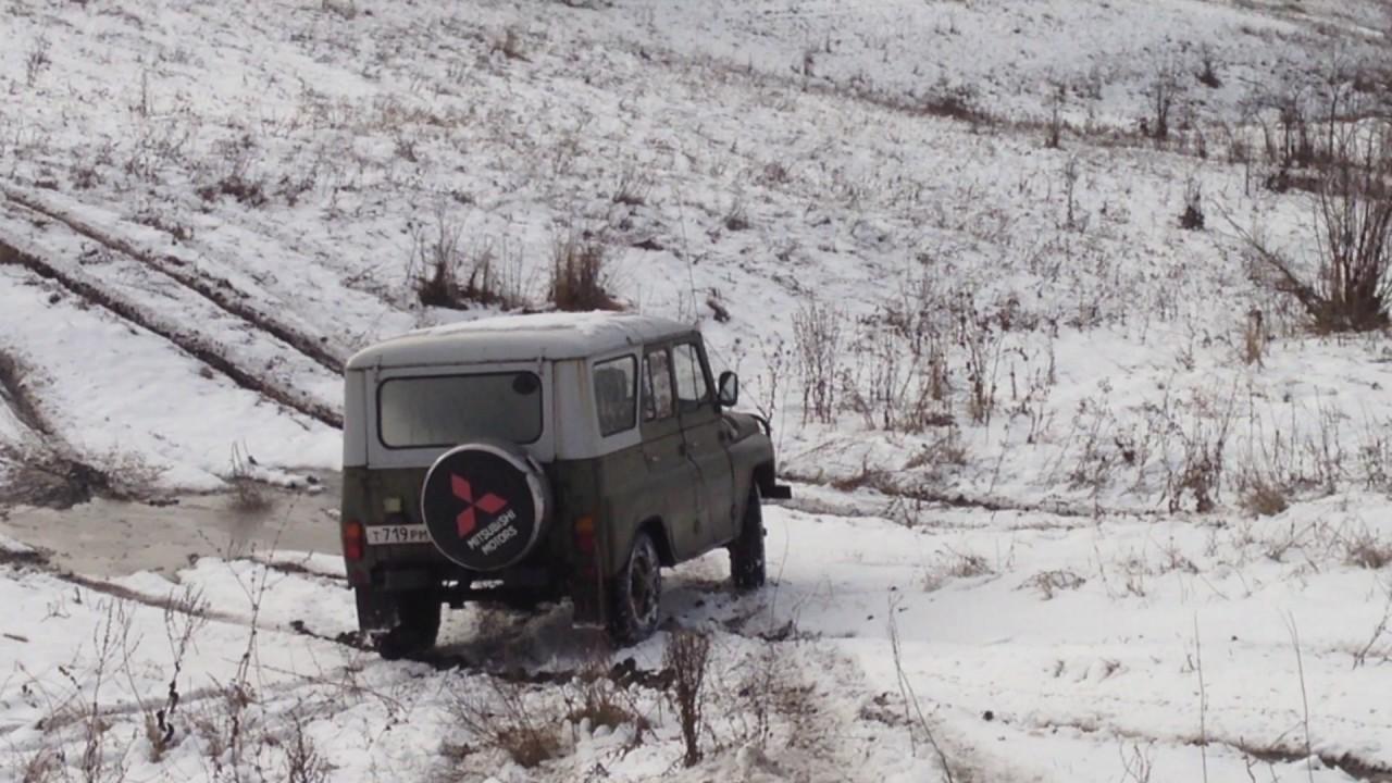 УАЗ 469 зимой. - YouTube