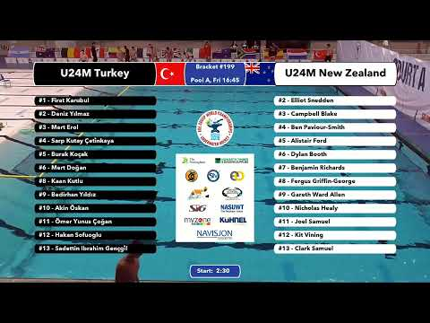 Game 199  (NZL vs TUR U24M) ENGLISH- 5th CMAS Underwater Hockey Age Group Worlds - Sheffield, UK