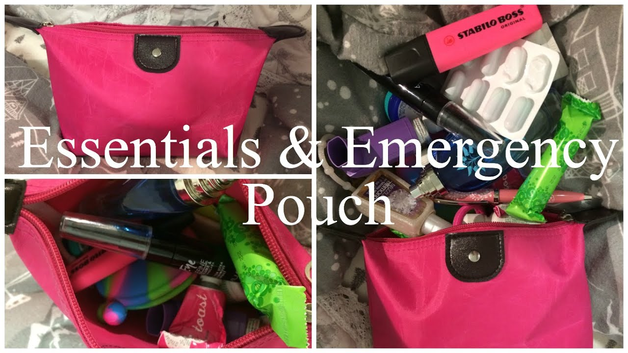 c36f4c0a36 What's In My Essentials & Emergency Pouch: A GIRL'S MUST HAVE ...