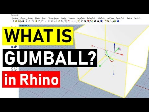 How to Use Gumball: Rhino 3D CAD Technique #17 (2018)