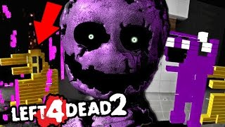 FORCING THE PURPLE MAN INTO AN ANIMATRONIC SUIT || Left 4 Dead 2 FNAF 3 (Five Nights at Freddys)