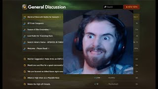 Asmongold reacts to his old wow general forums posts (w/ twitch  chat) thumbnail
