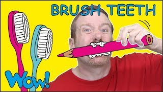 Brush your Teeth Song Story for Kids from Steve and Maggie NEW | Free Speaking Wow English TV thumbnail