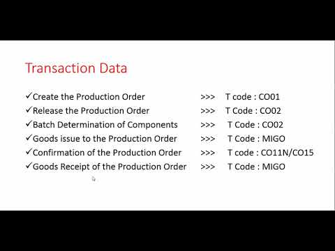 Batch Determination in Production Order