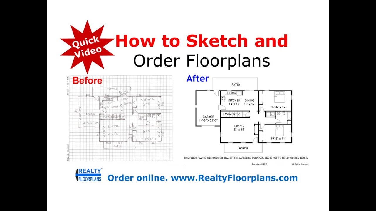 Realty Floorplans: How to Rough Sketch a Floor Plan (Quick Video ...