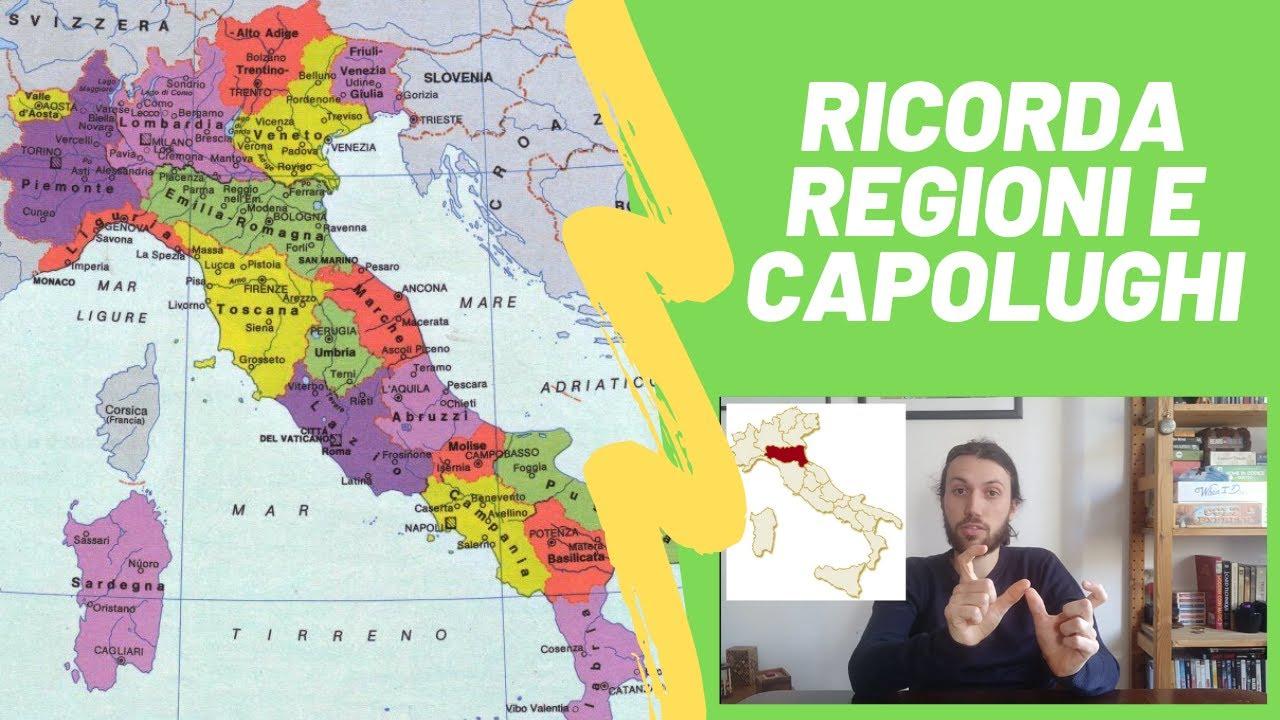 Cartina Italia Con Regioni E Capoluoghi.Memorizza Tutti I Capoluoghi Delle Regioni D Italia Tutorial Youtube