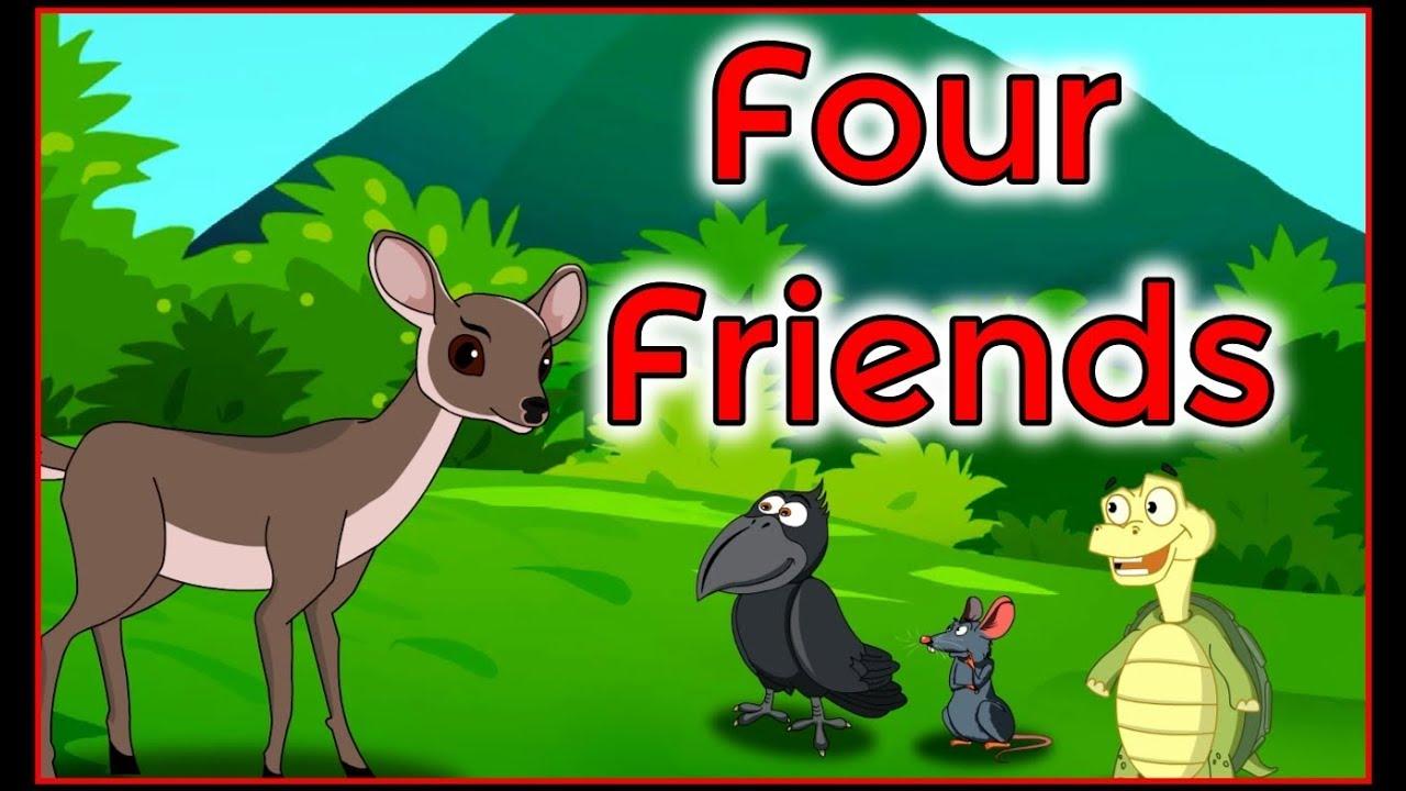 Four Friends English Cartoon | Panchatantra Moral Stories for Kids | Maha Cartoon TV English
