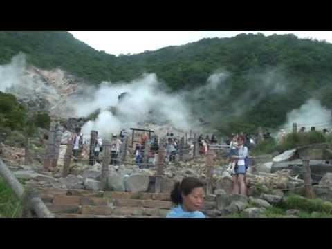 Cáp treo,suối nước nóng Hakone _ Nhật bản