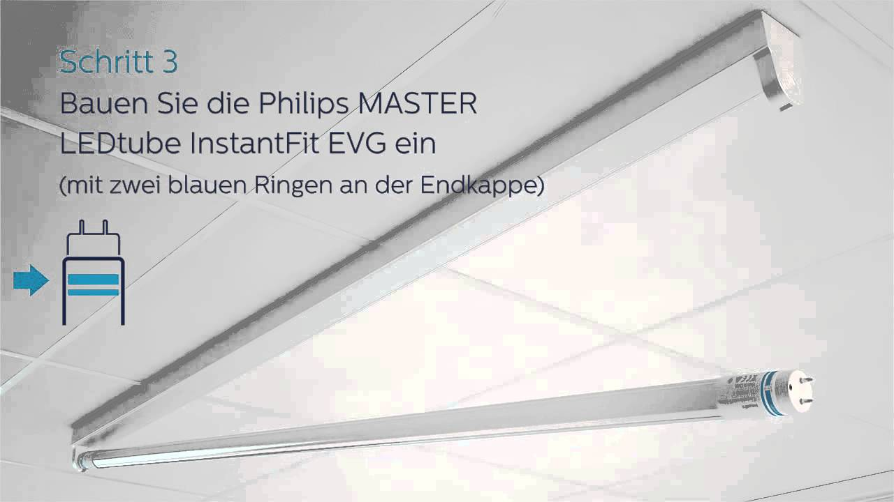 Led Leuchtröhre Philips Ledtube Installationsvideo Evg