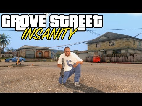 GTA San Andreas (PC) Grove Street INSANITY Mod [1080p]