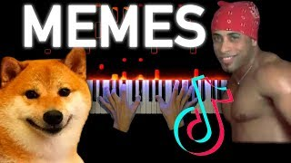 MEMES COMPILATION ON PIANO