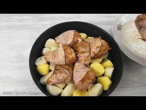 До неприличия просто и вкусно.  Обед в духовке для всей семьи!