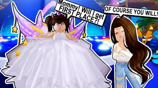MY SPOILED DAUGHTER'S FIRST PAGEANT! *THEY MADE HER CRY* - Roblox - Royale High
