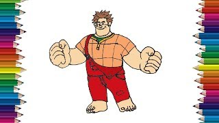 How to draw a Wreck It Ralph step by step - Wreck It Ralph drawing easy for beginners
