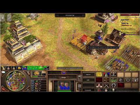 Age of Empires III - 2 VS 2 - Japanese French VS British Germans