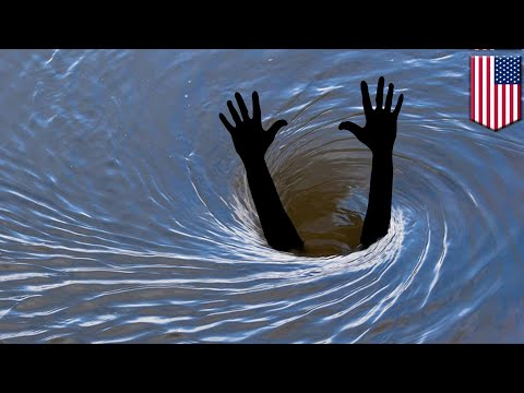 Man killed while saving kayakers from sinkhole whirlpool - TomoNews