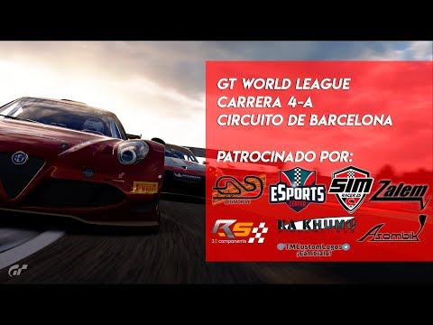 🏆 GT WORLD LEAGUE 🏆 Carrera 4 - A  | Circuito de Barcelona | Gran Turismo Sport PS4🔴 thumbnail