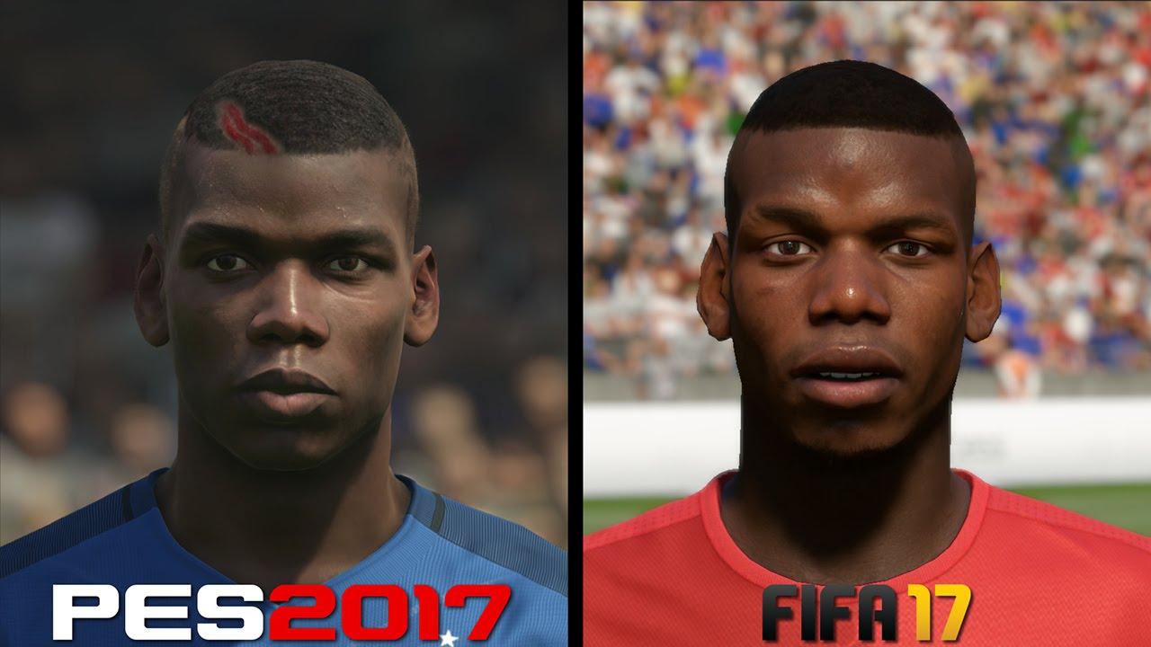 FIFA 17 vs PES 2017 Faces Comparison