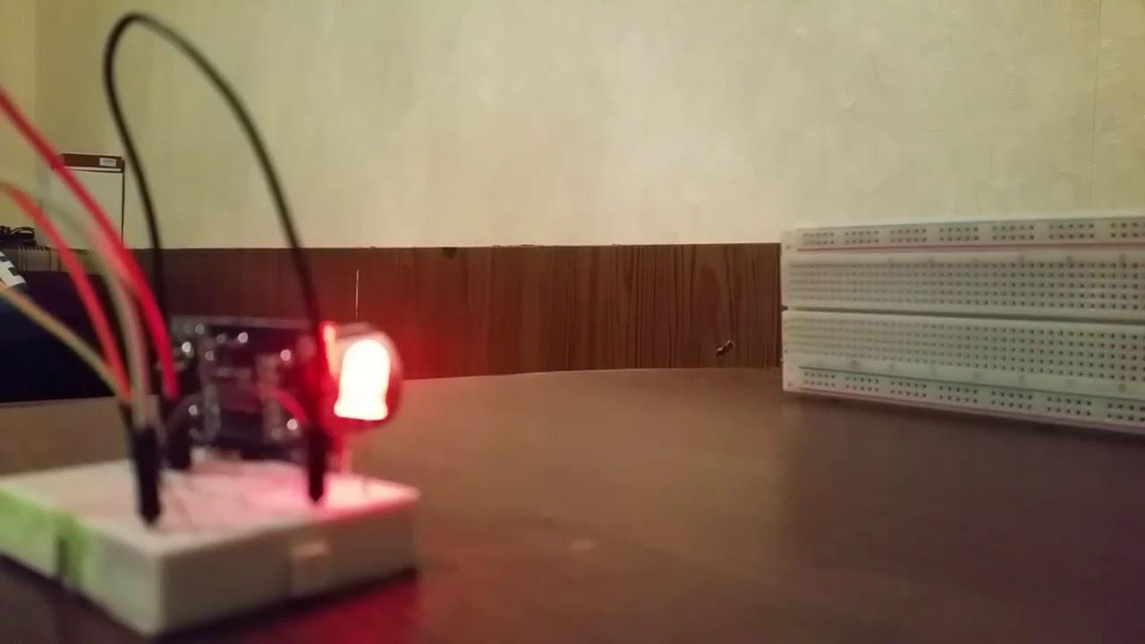 Датчик движения с Arduino и HC-SR04