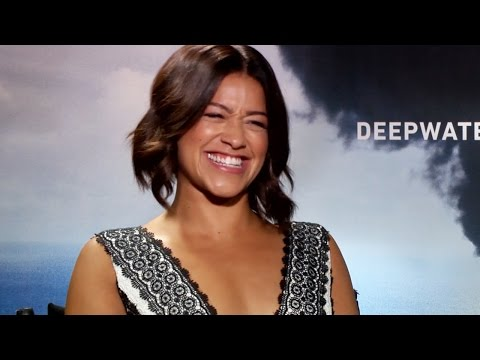 Gina Rodriguez Talks Mark Walhberg Tossing Her In