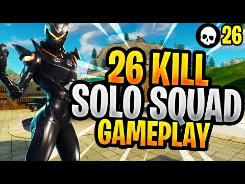 26 Kills Solo vs. Squads! (Top Console Fortnite Battle Royale Gameplay)