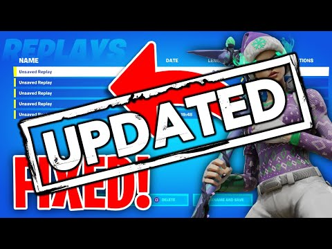 *UPDATED* How To Fix Replay Mode On Fortnite!
