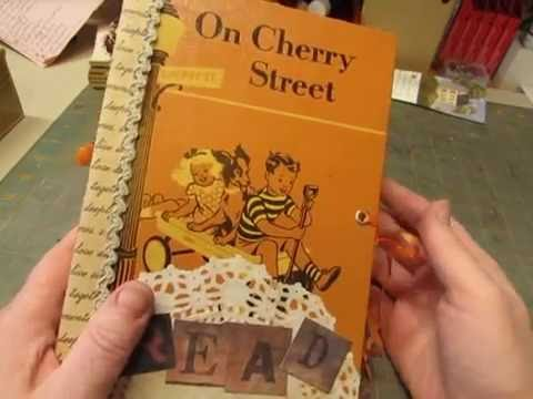 """""""On Cherry Street"""" Junk Journal- made from an old children's book cover"""