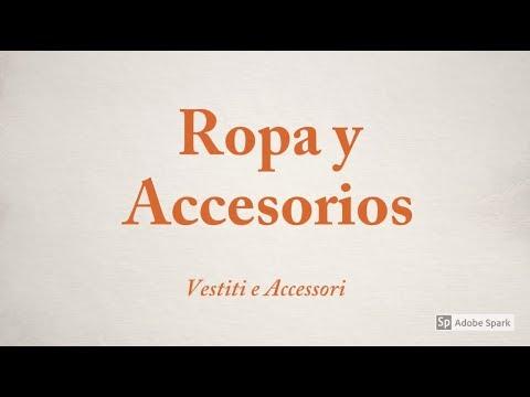 Léxico de ropa y accesorios - Vocabulario de ropa y accesorios