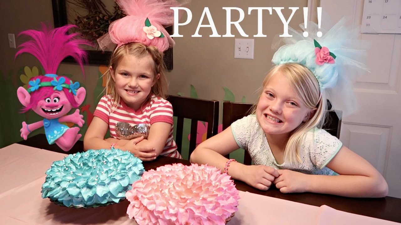 trolls surprise birthday party present opening youtube
