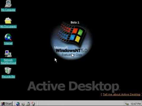 windows nt 5 0 beta 1 build grab 27 may 2003 youtube