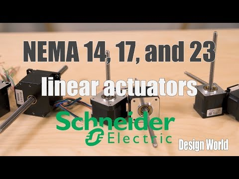 Overview of NEMA 14, 17, and 23 linear actuators (with external and non-captive screws)