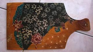 Seni Rupa ( batik di talenan )